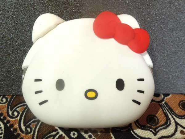 p+g design シリコン製のmimi POCHI miffy、ミミポチ キティ、 キティちゃんのがまぐち小銭入れ
