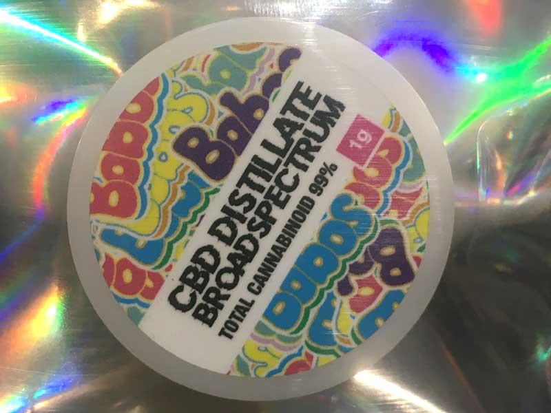 Bobos CBD Distillate BROADSPECTRUM Wax ボボス CBD、CBG、CBN ワックス、シャッター