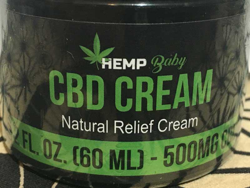 Hemp Baby CBD Natural Relief Cream 500mg ナチュラルレリーフクリーム、筋肉・関節用クリーム
