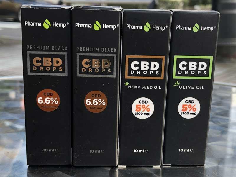 harmaHemp PREMIUM BLACK CBD Oil Drop ファーマヘンプ フルスペクトラム CBD舌下用オイル 10ml