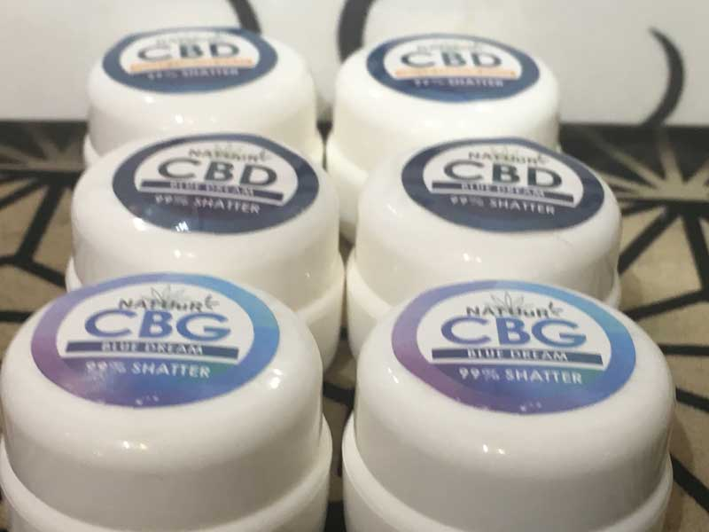 NATUuR CBD & CBG 99% Shatter 0.5g テルペン配合 ワックス シャッター 0.5g