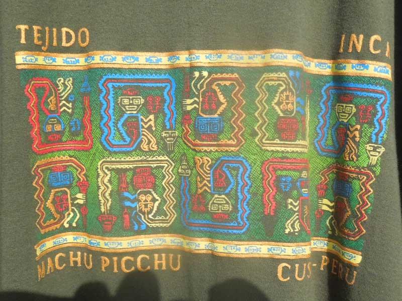 新品 ペルーインカ帝国 マチュピチュ 半袖 Tシャツ