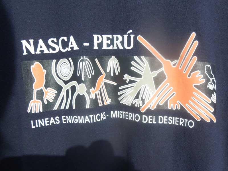 新品 ペルー ナスカの地上絵 半袖Tシャツ