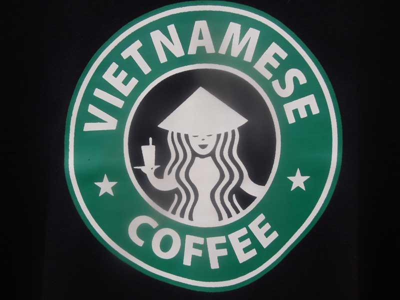 新品 ベトナムのTシャツ、共産圏プロパガンダTee、ベトナム地図Tee、Vietnamese Coffee Tee