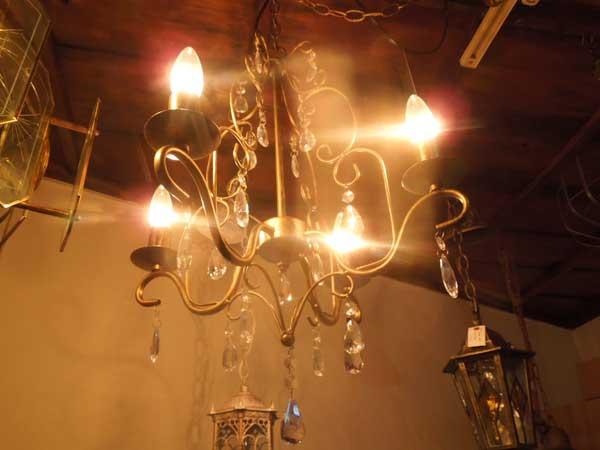 新品 4灯 シャンデリア ライト 4灯、Chandelier Light Bronze