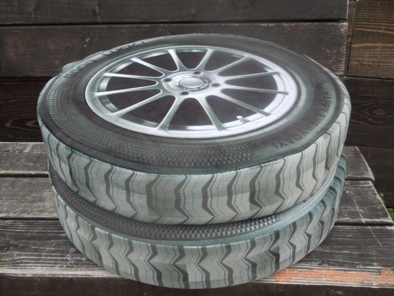 新品 デジタルプリント Car Wheel & Tire、 車のホイルとタイアのクッション
