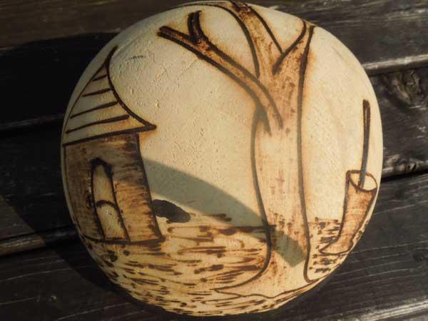 アフリカの民族楽器 ひょうたんサンザ(カリンバ)